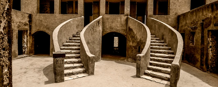 Slaves house on Goree island in Senegal